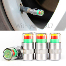 4x Tire Pressure Car Wheel Tyre Valve Stems Air Dust Cover Screw Cap Accessories