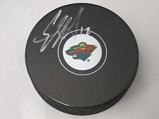 Eric Staal Minnesota Wild Autographed Signed Logo Puck Comes With LOM COA es2
