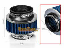 """2.75"""" 70mm Inlet Cold Air Intake Universal ByPass Valve Filter BLUE For MAZDA"""