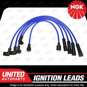NGK Spark Plug Ignition Lead Set for Ford Laser KF KH 1.8L 4Cyl Long Life