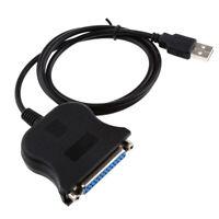 USB nero da cavo da 87cm a 25 connettore adattatore per cavo di stampante