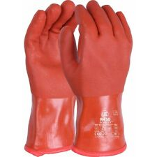 12 x UCI R430 BoaFlex Hardwearing Insulated Double Dipped PVC Gauntlets - Red