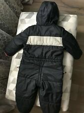 Burberry Kids All-in-one Winter hooded Snow Suit in black age 3 years 98 cm