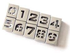 10pcs hollow 8mm Slide number 0-9 charms Fit 8mm Belt/bracelets/pet name collar