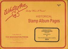 White Ace 2019 Us Commemorative Singles Stamp Album Supplement V New!