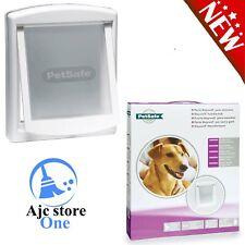 Medium Pet Flap - Petsafe Cat Dog Door White 2-Way Access Lockable Weather Proof