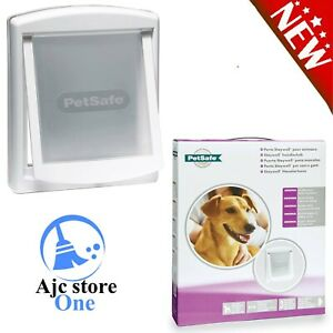 Medium Pet Flap - Petsafe Cat Dog Door White 2-Way Access Lockable Weather Proof