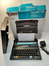 Canon Typestar 220 Digital Portable Typewriter With Ac Adapter Works Read Info