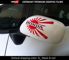 Pair of JDM LOGO HONDA civic ek eg eg5 dc2 dc5 Car mirror Decal vinyl Sticker