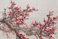 Framed Print - Traditional Japanese Artwork Cherry Blossoms (Oriental Picture)