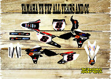 YAMAHA YZ YZF 85 125 250 450 FULL GRAPHICS KIT-MX -DECALS-STICKERS-BOOST
