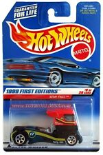 1999 Hot Wheels #914 First Editions #8 Semi-Fast black-red