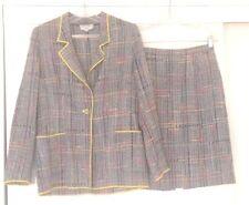 Vtg Emanuel Ungaro Paris Parallele Multicolor Plaid Blazer & Skirt Suit Sz 10
