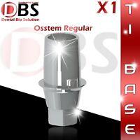1X Dental Implant Ti-Base For Osstem / Hiossen For Regular Platform With Hex