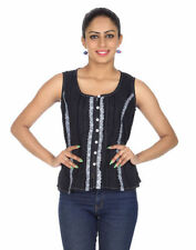 Unbranded Hand-wash Only Striped Tops & Blouses for Women