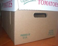 Kraft 25 lb Corrugated Tomato Box for Tomato growers 20 pieces per Case Reg $69