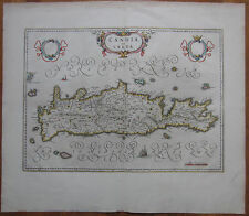 Blaeu: Large Map of Crete Kreta Candia Greece - 1650