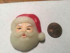 Cute Plastic Santa Head Pin by Fun World