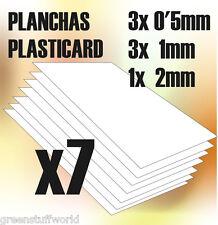 Plancha Plasticard MIX COMBO 7 planchas A4 - Variadas - Plastico Poliestireno
