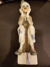 """Vintage Casades Porcelain Figurine Clown Made In Spain 10 1/2"""" H"""