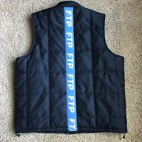 FTP Woven Tape Vest Black Zip Size Mens Large