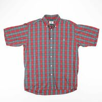Vintage LACOSTE Multicoloured Embroidered Check Pattern Shirt Men's Size L