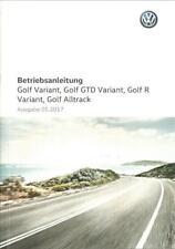 VW GOLF VARIANT 7 Betriebsanleitung  2017 Bedienungsanleitung GTD R Alltrack  BA