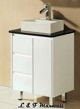 Bathroom Vanity with Stone Top and Ceramic Basin 750mm