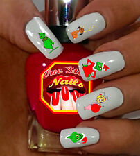 Grinch, Who Stole Christmas. Waterslide Nails Decals. Set of 47 DG-001-47