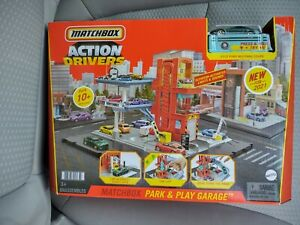 2021 Matchbox Action Drivers Park & Play Garage w/ 2019 Ford Mustang, New, USA
