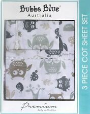Bubba Blue Mod The Owl Cot Sheet Set 3pce