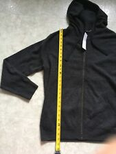 Vince M43466547 Heather Gray 100% Cashmere Full Zip Hoodie $475 Men M Sweater