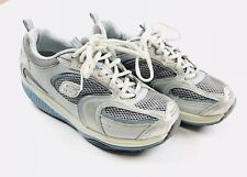 Sketchers Shape-Ups Womens  Size 7 Toning Shoes Silver and Light Blue SN12320