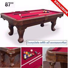 """NEW 87"""" Pool Table Billiard Billiards Set Light Cues Balls Chalk Triangle Brush"""