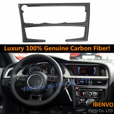 Genuine Carbon Fiber Front Dashboard Console Panel Frame For Audi B8 A4 S4 A5