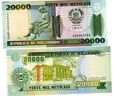 Mozambique AFRIQUE Billet 20000 METICAIS 1999 P140 PETIT NUMERO LOW S/N NEUF UNC