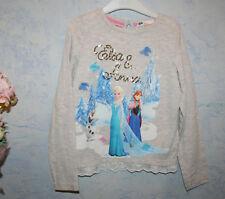 Ƹ̵̡Ӝ̵̨̄Ʒ H&M Mädchen T-Shirt Paillietten Elsa Anna Frozen Eiskönigin Gr 110/116