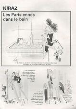 ▬► Dessin Humoristique KIRAZ Les Parisiennes dans le bain 1980