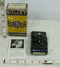 KODAK BULLET POCKET BLACK BAKELITE CAMERA 1930s ART DECO DESIGNER PIECE BOXED