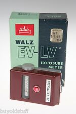WALZ EV-LV Exposure Meter IN ORIGINAL BOX & CASE & Manaul For Movies works!