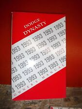 1993 Dodge Dynasty Original Factory Operators Owners Manual