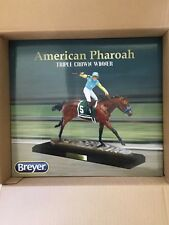 BREYER LE #9180 AMERICA PHARAOH RACE HORSE RESIN BAY WITH JOCKEY - NIB