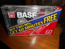 Vintage BASF 60 min. Stereo Blank Cassette Tape Ferro Extra I~IEC I Norm SEALED