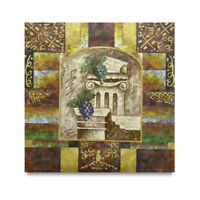 NY Art - Colorful Roman Designs 36x36 Original Oil Painting on Canvas!