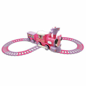 Kiddieland Disney Minnie Mouse Ride On Train Engine and Caboose Toy (Open Box)