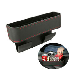 1PCS Black PU Leather Storage Box Organizer Cup Holder Fit For Car Seat Side Gap