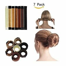 Snap Bun Maker Hair Style French Twist Donut Women Girls Easy To Use 7 Pieces