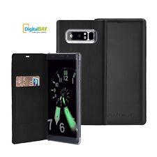 Custodia Cover Horizontal Flip Case Eco Pelle Nero Samsung Galaxy Note 8 SM-N950