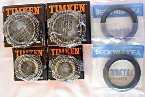 2 sets of OEM TIMKEN JAGUAR XJS 93 94 95 96 front wheel bearing kit JLM10848