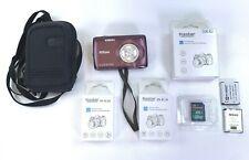 Nikon COOLPIX S4300 16.0MP Digital Camera Touchscreen Plum 2 New Batteries